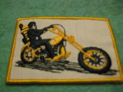 "Vintage Chopper Motorcycle   Patch Sew On 3 5/8 "" X 2 1/2"""