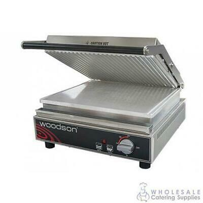 Contact Grill Ribbed Top Aluminium Plate 4-6 Slice Woodson W.CT6R Sandwich Press