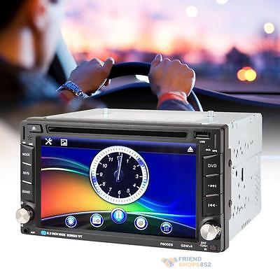 Car Touch Screen HD GPS Stereo DVD Player Double 2DIN Bluetooth Radio TV iPod