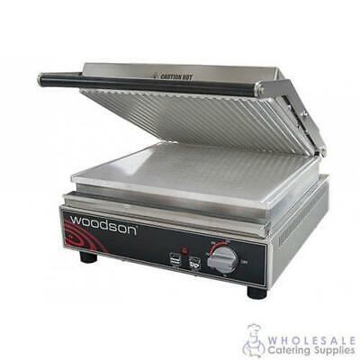 Contact Grill Ribbed Top Aluminium Plate 6-8 Slice Woodson W.CT8R Sandwich Press