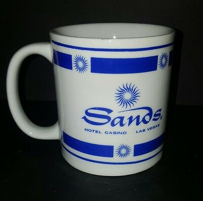 The Sands Hotel and Casino Blue Coffee Mug Cup 12 Oz Vintage Las Vegas