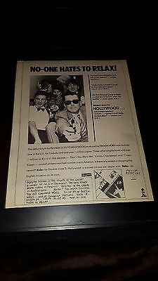 Frankie Goes To Hollywood Relax Rare Original Promo Poster Ad Framed!
