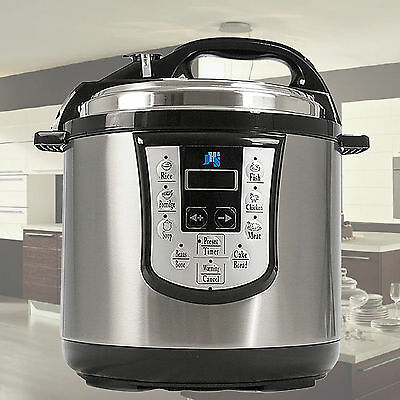 Brand New Digital Electric Pressure Cooker Stainless Steel Family 6L LED 11 in 1