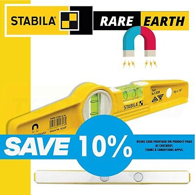 Stabila 81SREM Scaffold Rare Earth Magnet / Magnetic Spirit Torpedo Boat Level