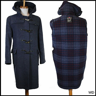 Vintage Gloverall Duffle Duffel Coat Classic Navy Wool Uk 38 Small