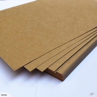Brown Kraft Sheets Paper 100 x Sheets A3 225GSM Natural Recycled- Premium Grade