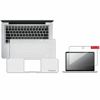 Clear Full Keyboard Silicone Skin+Screen Protector For Apple Macbook Pro 13