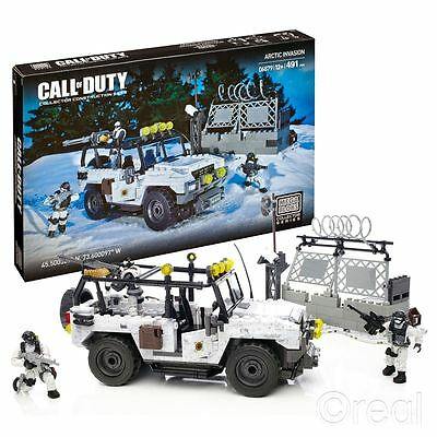 New Call Of Duty Arctic Invasion Mega Bloks Construction Set & Figures Official