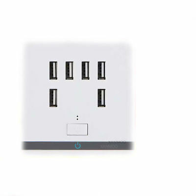 Six USB Ports Wall Socket Prise Charger Electric Outlet Panel 220V to 5V TP