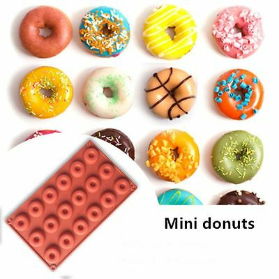 18 Cavity Color Random Molds Baking Pan Silicone Donut Mould Round Shaped