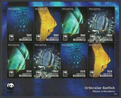 Micronesia WWF Fish Sheetlet of 8v / 2 sets