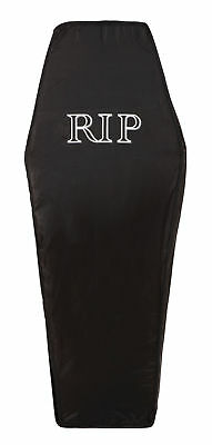 Coffin Black Foldable Prop for Halloween Party Decoration