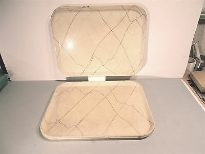"Used Cafeteria TRAY,Light Yellow/ Cream/ Gold,Fiberglass,18""X14""X7/8"",Camtray"