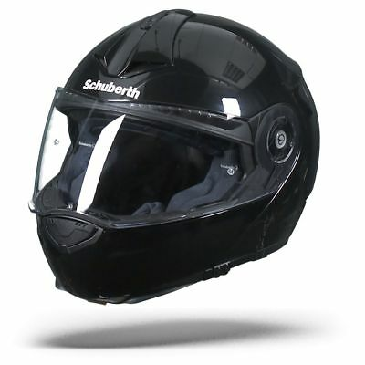 Schuberth C3 Pro Glossy Black Gloss, Motorcycle Flip Up Helmet, C-3 Pro