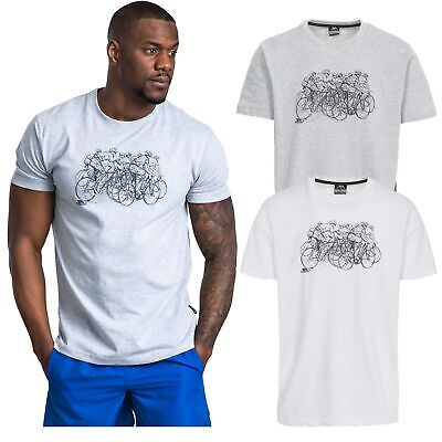 Trespass Wicky Mens White Top Casual T-Shirt Short Sleeve Cotton Blend