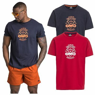 Trespass Heron Mens Printed T-Shirt Short Sleeve Cotton Top