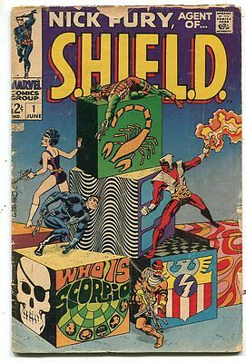 Nick Fury Agent of Shield 1 GD Nick Fury 1st Scorpio Marvel Comics  SA