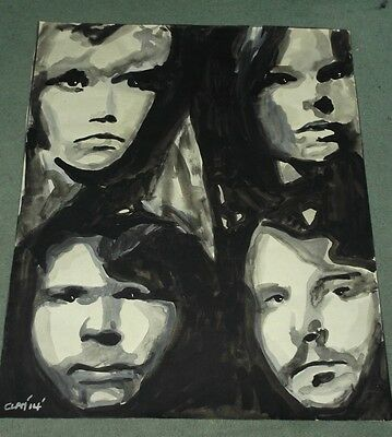 Abba,...hand Painted 20 X 16 Ins..ready To Frame