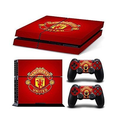 Manchester United Skin Sticker For Playstation 4 Full Console & Controller Set