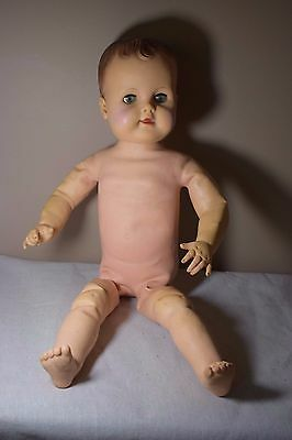Large 1950's Eegee Boy Doll 26 with Wired Posable Body
