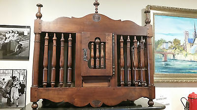18th Century French Antique Provence Walnut Panetiere * Antique Bread Storage