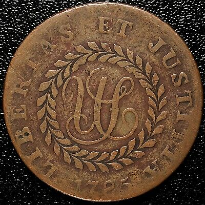 1785 Nova Constellatio Pointed Rays Post Colonial Copper
