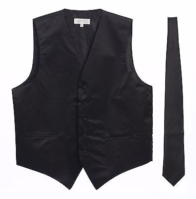 Men's Formal Vest and Tie, 2 Piece Set, CLEARANCE!