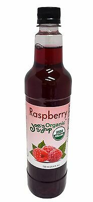 Joe's Syrup Organic Flavored Syrup, Organic Raspberry, 750 ml
