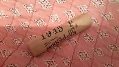 Original 1945-P Brilliant Uncirculated  Lincoln Cent Roll-Sealed Bank Roll