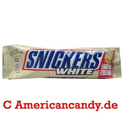 Snickers + weisse Schokolade: 8x 49g Snickers WHITE limited edition (19,11€/kg)