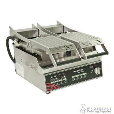 Contact Grill Computerised Twin Smooth Stainless Steel Plate Woodson W.GPC62SC