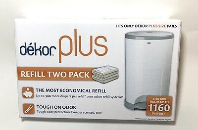 Dekor Plus - Diaper Disposal System Refill - Two Pack New!