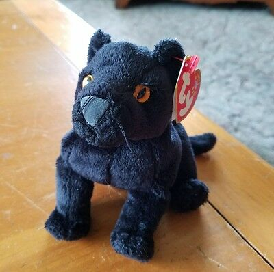 MIDNIGHT THE BLACK Panther Ty Beanie Baby TAG ERROR- Hang 2000 b02e6529b88