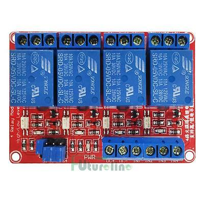5V 4Channel Relay Module w/ with Optocoupler High Low Level Trigger for Arduino