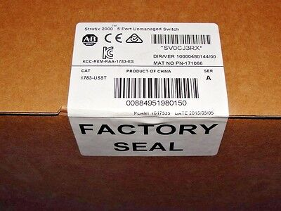 2015 - 2016 FACTORY SEALED 1783-US5T /A Stratix 2000 Switch, Unmanaged, 5-Port