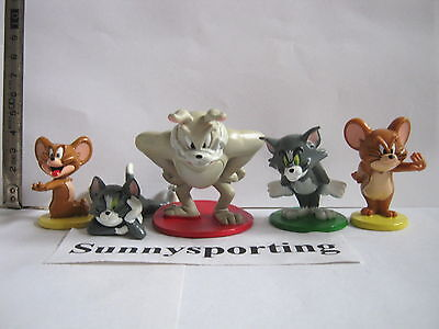 5pcs Tom and Jerry SPIKE CARTOON Action figures Cat Mouse Dog Animals Toy Gift