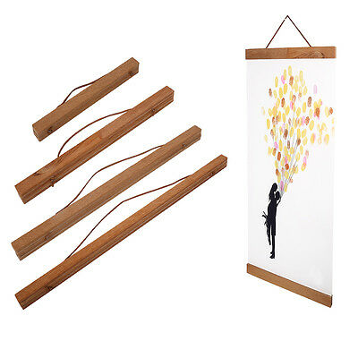 Living Room Magnetic Wooden Photo Frame Poster Scroll Print Artwork Hanger HG