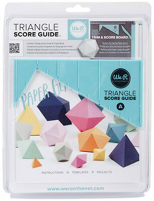 We R Memory Keepers Triangle Score Guide for use with the Trim & Score Board