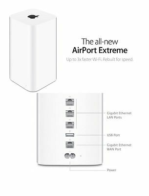 NEW Apple AirPort Extreme 6th Gen 802.11AC Gigabit Wireless N Router ME918LL/A