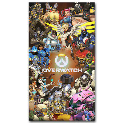 Overwatch Hot Game Art Silk Poster 13x24 inch 002