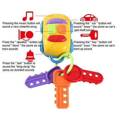 CIKOO Music Car Wash Keys Educational Toys Rattle Musical Toy Hot Sale