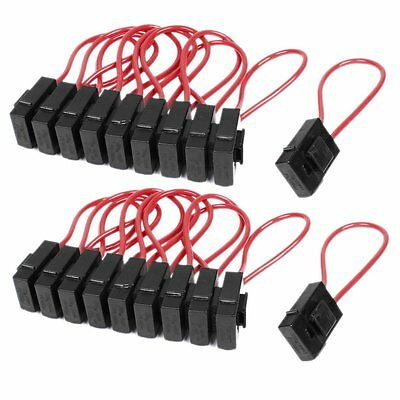 30A Wire In-line Fuse Holder Block Black Red for Car Boat Truck 20pcs T8Y8