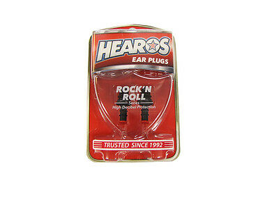 HEAROS ROCK 'N ROLL EARPLUGS *Comfortable, Re-Usable and Washable* NEW!