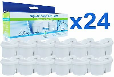 24 Jug Water Filter Cartridges Compatible with Brita Maxtra & Aqua Optima Evolve