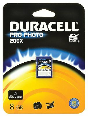 Duracell  SDHC ProPhoto 8 Go