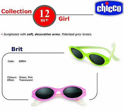 Chicco Girls Sunglasses 12M+ Brit. Choose colour and case colour NEW