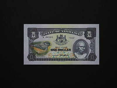 Australia  Quality Tasmania State Notes  -  $1  Art Notes In Perfect Mint Unc
