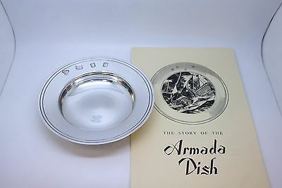 Solid Sterling Silver Armada Dish - No Engraving - Paperwork