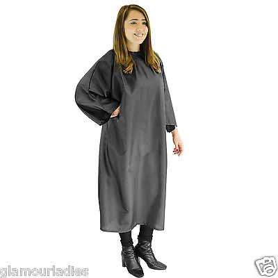 Redspot Unisex Black Hairdressers Unisex Gown for Hair Cutting and Salon Use