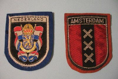 Nederland, Amsterdam - 2 toppe / Patches vintage - come nuove - AD140